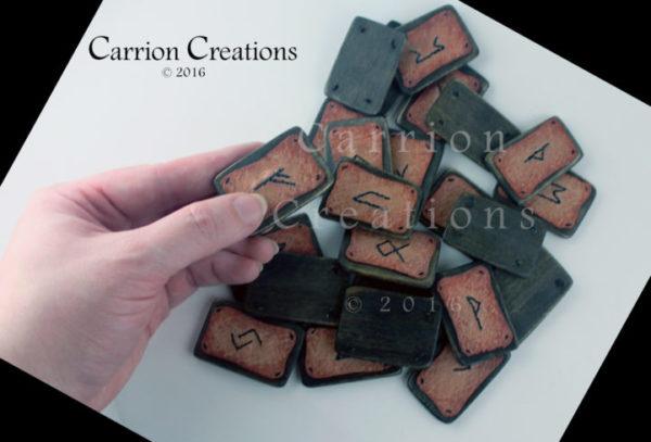 #4  -  Complete Set of Hand Stitched Elder Futhark Runes
