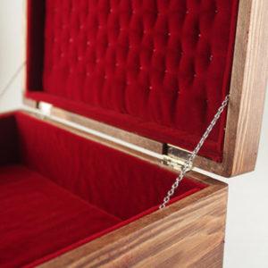 #7 - Se7en, Wood, Leather and Red Velvet Box